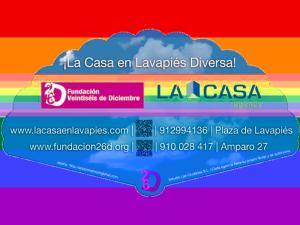 Abanico La Casa Agency Lavapiés - Fundación 26 de Diciembre | Madrid Orgullo MADO 2015 | Reverso