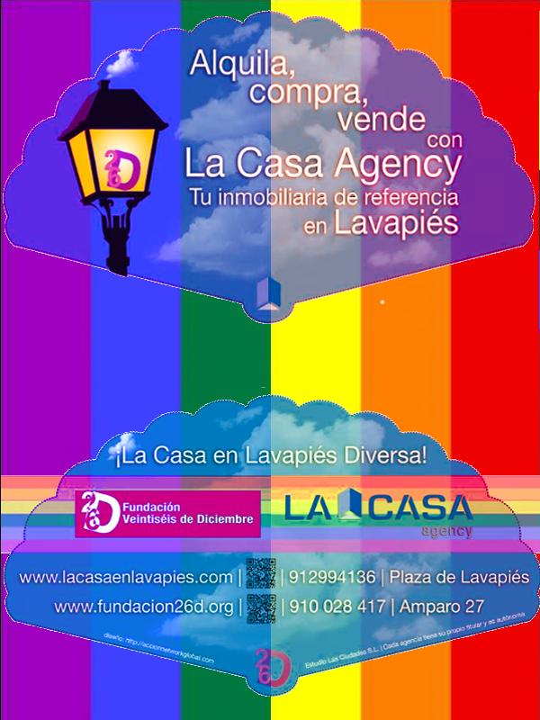 Abanico La Casa Agency Lavapiés - Fundación 26 de Diciembre | Madrid Orgullo MADO 2015