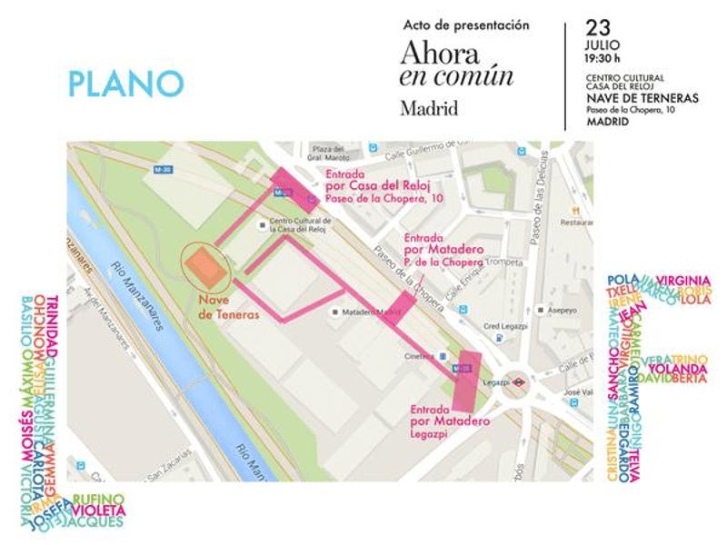 Acto de presentación 'Ahora en Común Madrid' | Centro Cultural Casa del Reloj | Arganzuela - Madrid | 23-07-2015 | Plano