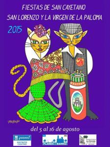 Fiestas de San Cayetano, San Lorenzo y La Paloma 2015 | Del 5 al 16 de agosto | Centro - Madrid | Cartel