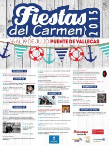 Fiestas del Carmen 2015 | Del 16 al 19 de julio de 2015 | Puente de Vallecas | Madrid | Cartel