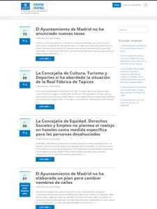 Madrid VO | Nuevo canal de información directa a la ciudadania del Ayuntamiento de Madrid | Pantallazo