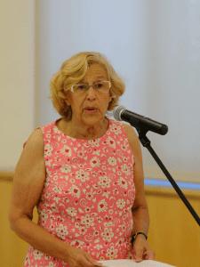 Manuela Carmena, alcaldesa de Madrid, anunció que la EMVS del Ayuntamiento de Madrid desistirá de todos sus desahucios