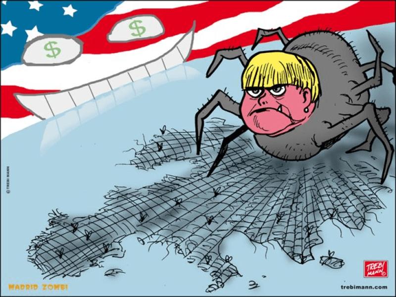 MZ 2015 - 29 | La araña Merkel | © Trebi Mann 2015
