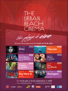 The Urban Beach Cinema Conde Duque | Veranos de la Villa 2015 | Madrid | Programació del 10 al 18 de julio de 2015