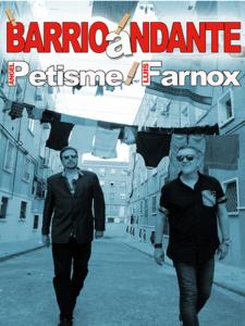 'BarrioAndante'   Disco-libro de Ángel Petisme y Luis Farnox   Desacorde Ediciones   Vallekas - Madrid - 2015   Portada