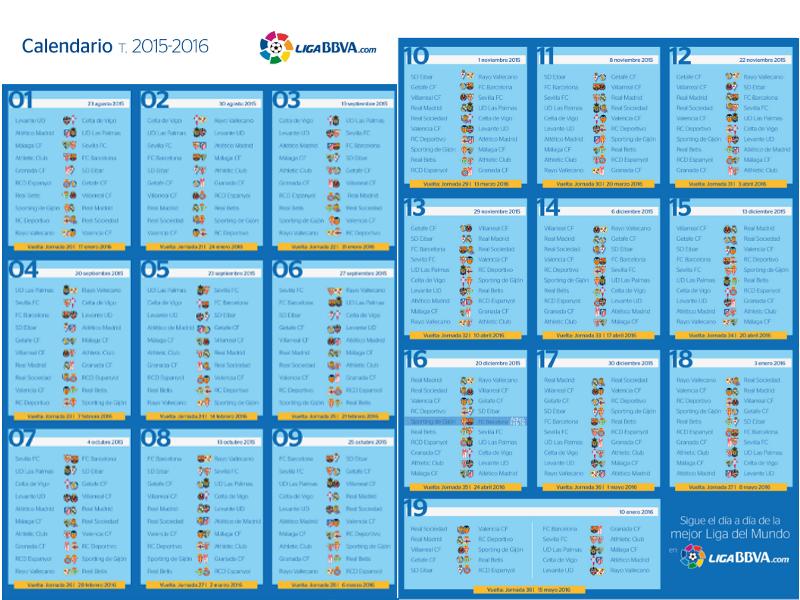 calendario liga bbva
