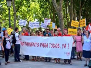 Enfermos de Hepatitis C en la Marea Blanca del domingo 16 de agosto de 2015 en Madrid