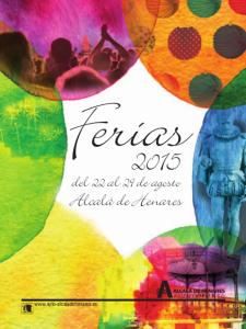 Ferias Alcalá de Henares 2015   Del 22 al 29 de agosto de 2015   Cartel