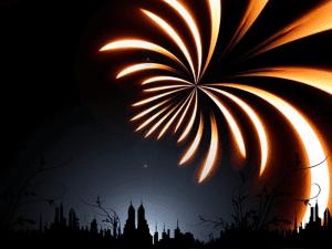 Fuegos artificiales en la noche de Madrid | Foto: Geralt / Pixabay