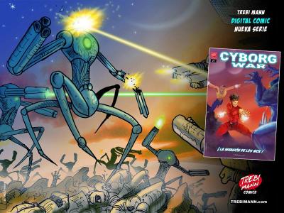Cyborg War | Vídeo trailer presentación de la cómic-serie de Trebi Mann | Septiembre 2015
