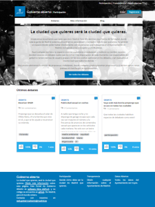 madrid.decide.es | Portal de Gobierno Abierto del Ayuntamiento de Madrid | Pantallazo 07/09/2015