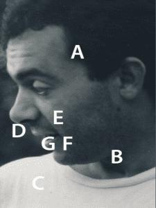 Retrato en blanco y negro A B C D E F G | Fotografía Lucía Gómez Meca | Exposición 'Lanzadera.Gómez | CentroCentro Cibeles | Madrid