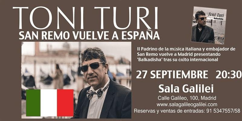Toni Turi | San Remo vuelve a España | Sala Galileo Galilei - Madrid | 27/09/2015