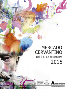 17º Mercado Cervantino | Alcalá de Henares | Comunidad de Madrid | Del 8 al 12 de octubre de 2015 | Cartel