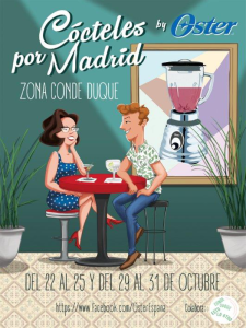 Cócteles por Madrid by Oster 2015   Entorno Conde Duque - Madrid   Octubre 2015   Cartel