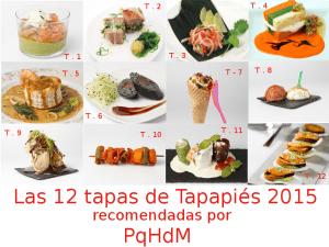 Las 12 tapas de Tapapiés 2015 recomendadas por PqHdM