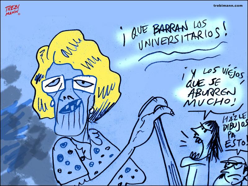 ¡Qué barran los universitarios! | © Trebi Mann 2015
