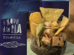 Tapapiés 2015 | Tapa Ceviche de pulpo al chipotle y tamarindo de El Mono de la Pila | Mercado de Antón Martín | Lavapiés - Madrid