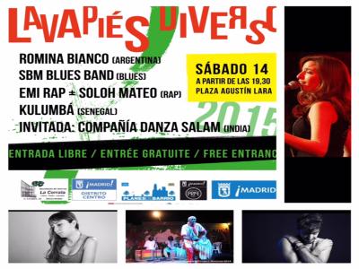 Lavapiés Diverso 2015 | Cartel concierto 14/11/2015 | Plaza de Agustín Lara | Lavapiés - Madrid