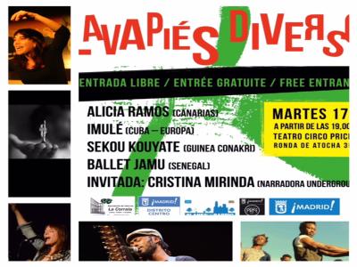 Lavapiés Diverso 2015 | Cartel concierto 17/11/2015 | Teatro Circo Price | Lavapiés - Madrid