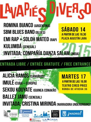 Lavapiés Diverso 2015 | Cartel conciertos