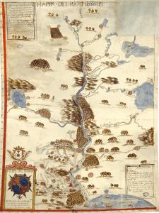 'Mapa del río Missisipi' (1699) | Anónimo | Archivo General de Indias | Sevilla | 'La ilusión del Lejano Oeste' | Museo Thyssen-Bornemisza | Madrid | Otoño 2015-2016