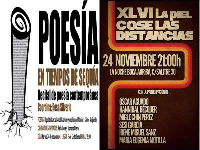 Poesía en Tiempos de Sequía y 46ª La Piel cose las distancias | 'Bolo' García | Madrid | 24/11/2015