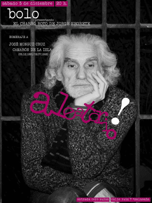 Presentación 2ª edición 'El charro roto de Jorge Negrete' de Hipólito García Fernández 'Bolo' | Homenaje a 'Camarón de la Isla' | Aleatorio Bar | Malasaña - Madrid | 05-12-2015 | Cartel
