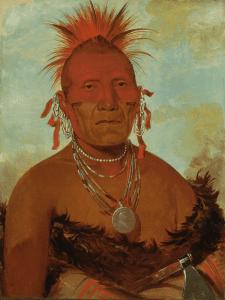 'Shón-ka-ki-he-ga, Jefe Caballo, gran jefe pawnee' (1832) | George Catlin | Smithsonian American Art Museum, | Washington, D.C. | 'La ilusión del Lejano Oeste' | Museo Thyssen-Bornemisza | Madrid | Otoño 2015-2016