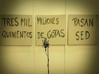 3500 millones de gotas pasan sed | Azaristmo poético plástico | Hipólito 'Bolo' García Fernández