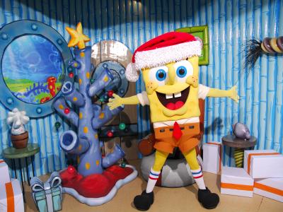 Bob Esponja y sus amigos se visten de Navidad en el Parque de Atracciones de Madrid