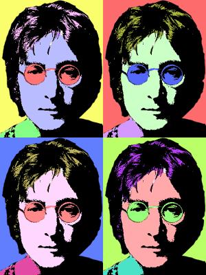 John Lennon Pop Art por Radiitz