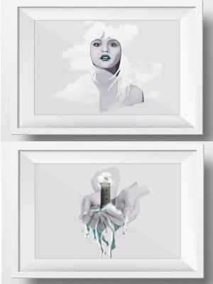 2 ilustraciones de Paula Díaz | Sorteo Poetracción | Enero 2016