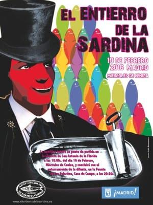 Carnaval de Madrid 2016 | El Entierro de la Sardina | Miércoles de Ceniza | 10/02/2016 | Alegre Cofradía del Entierro de la Sardina | Ayuntamiento  de Madrid | Cartel