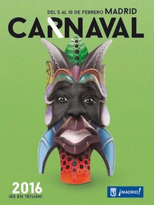 Carnaval de Madrid 2016 | '¡Es en Tetuan! | Del 5 al 10 de febrero de 2016 | Ayuntamiento de Madrid | Cartel