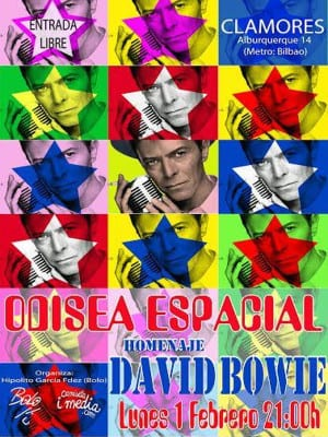 Odisea Espacial | Homenaje a David Bowie | Sala Clamores | Calle Alburquerque 14 - Madrid | 01/02/2016 | Cartel