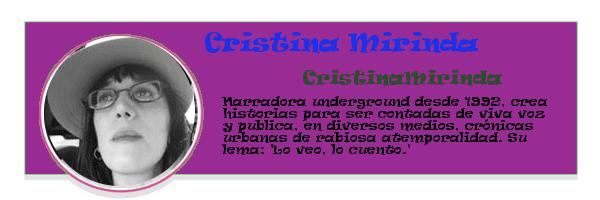 Perfil colaboradores PqHdM | Cristina Mirinda | CristinaMirinda