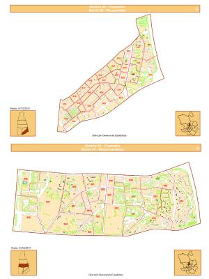 Planos barrios Prosperidad e Hispanoamérica | Distrito Chamartín | Madrid