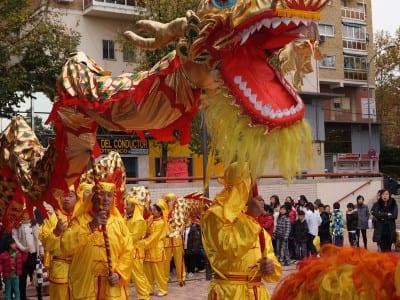 Año Nuevo Chino 2016 | Usera - Madrid | 08/02-06/03/2016 | Pasacalles con dragón