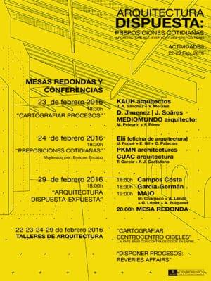 'Arquitectura dispuesta: Preposiciones cotidianas' | Actividades | 22-29/02/2016 | CentroCentro Cibeles | Madrid | Programa