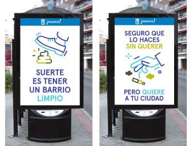 Bando de limpieza | Alcaldesa de Madrid | Manuela Carmena | Ayuntamiento de Madrid | Marquesinas