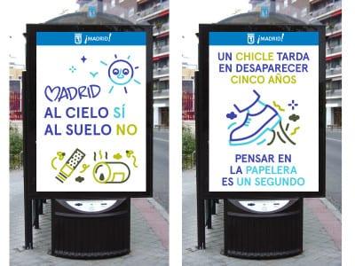 Bando de limpieza | Alcaldesa de Madrid | Manuela Carmena | Marquesinas | Ayuntamiento de Madrid