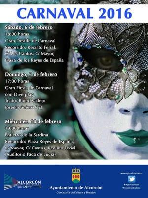 Carnaval 2016 | Alcorcón | Comunidad de Madrid | Cartel