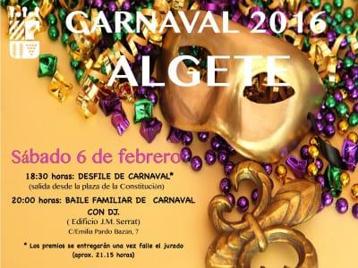 Carnaval 2016 | Algete | Comunidad de Madrid | Cartel