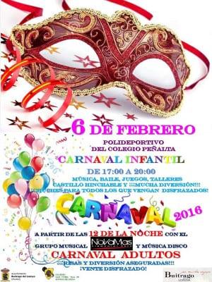 Carnaval 2016 | Buitrago del Lozoya | Comunidad de Madrid | Cartel