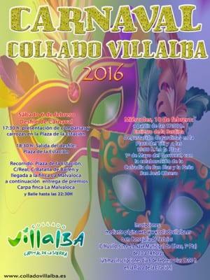 Carnaval 2016 | Collado Villalba | Comunidad de Madrid | Cartel