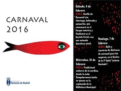 Carnaval 2016 | Humanes de Madrid | Comunidad de Madrid | Cartel