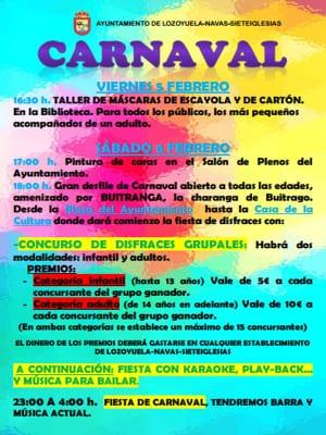 Carnaval 2016 | Lozoyuela-Navas-Sieteiglesias | Comunidad de Madrid | Cartel