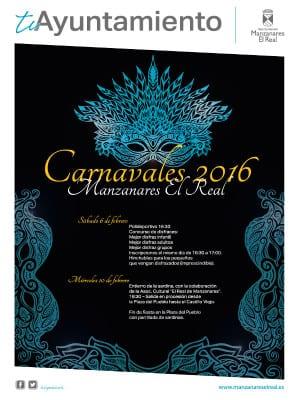 Carnaval 2016 | Manzanares El Real | Comunidad de Madrid | Cartel